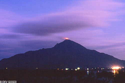 Arunachala Hill with Deepam at Tiruvannamalai