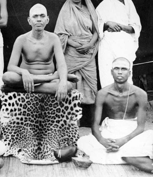 Muruganar sitting with Bhagavan