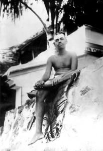 Ramana Maharshi at Skandashram