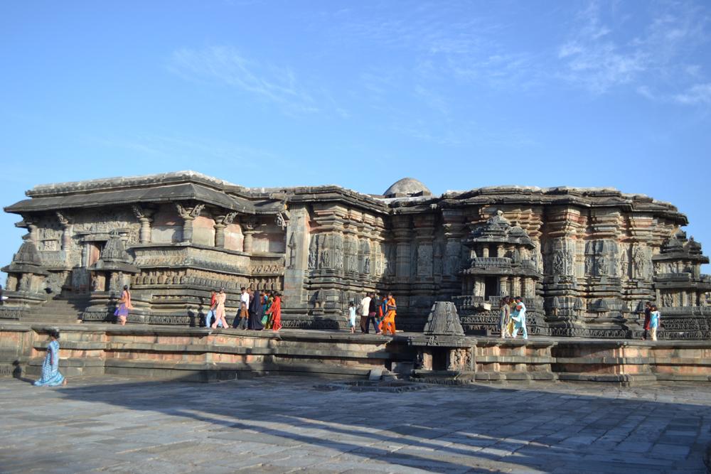 A Hoysala-style temple in Halebid, Karnataka