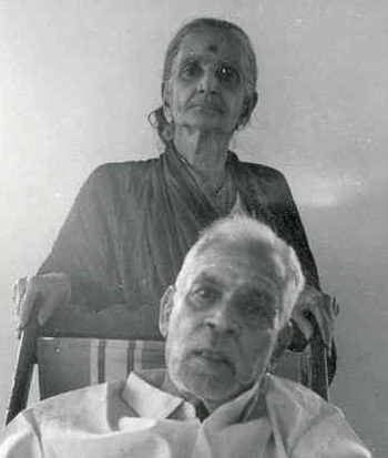 Narayana Iyer and wife Lalitha