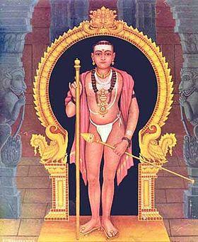 Murugan in his 'aandi' or begging form