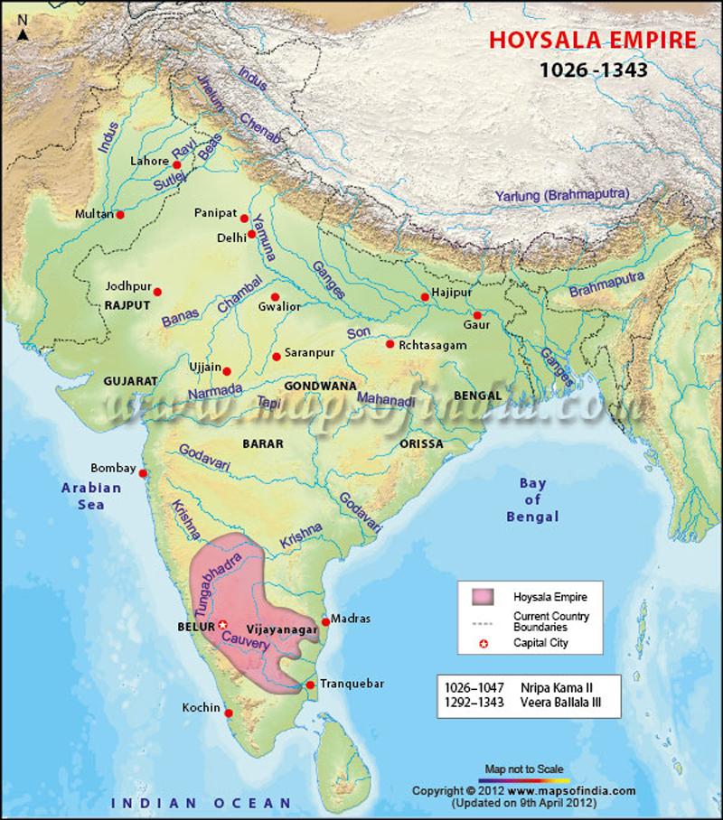 hoysala-dynasty-map