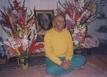 Papaji sitting in his living room