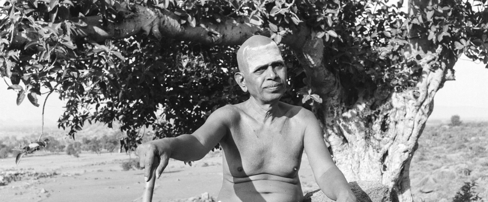 Bhagavan sitting on Arunachala