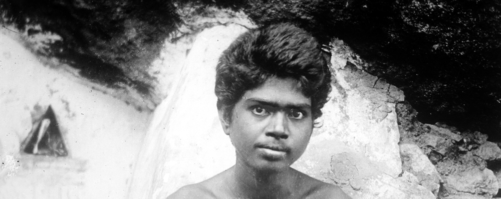 Bhagavan outside Mango Tree Cave, 1902