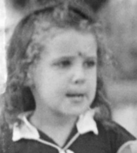 Katia Osborne as child
