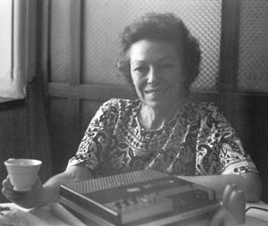 Jean Dunne with her tape recorder