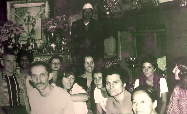 Majaraj with some of his western devotees in the late 70s