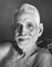 A bust of Sri Ramana Maharshi